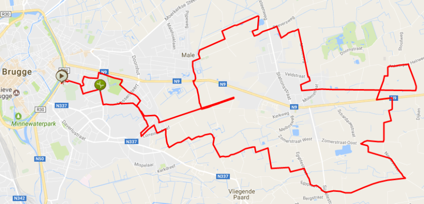 rode lus brugge damme